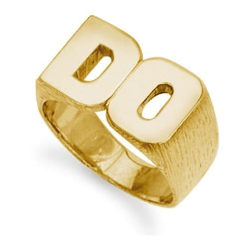 9ct Yellow Gold 17.5g Initial Ring