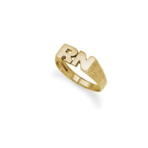 9ct Yellow Gold 3.0g Initial Ring