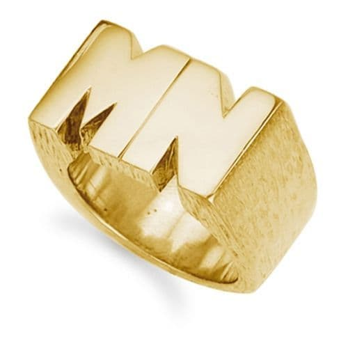 9ct Yellow Gold 57.0g Initial Ring