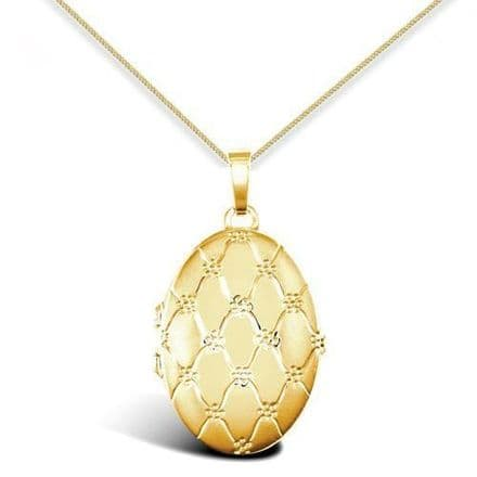 9ct Yellow Gold Four Picture Oval Family Locket