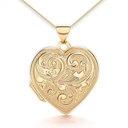 9ct Yellow Gold Love You Always Heart Locket