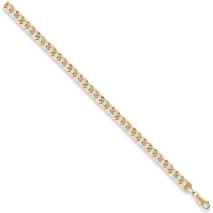 9ct Yellow Gold 18 Inch 5mm Flat Curb Chain
