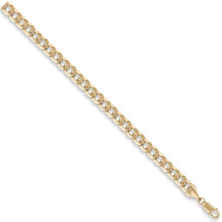 9ct Yellow Gold 18 Inch 7mm Flat Curb Chain