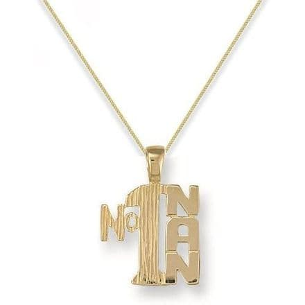 9ct Yellow Gold 1g Number One Nan Pendant