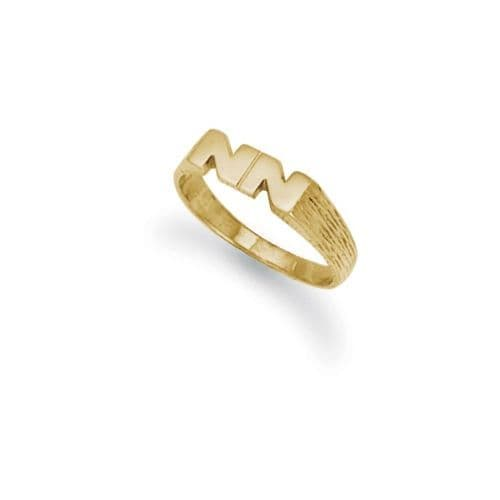 9ct Yellow Gold 2.0g Initial Ring