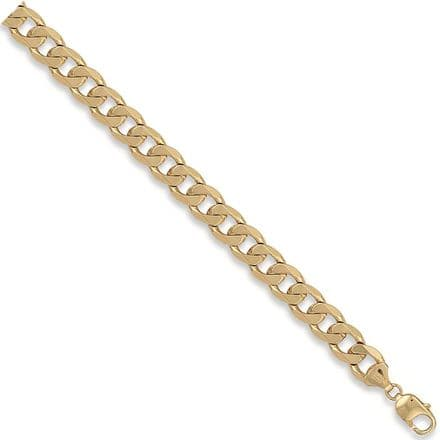 9ct Yellow Gold 20 Inch 10.8mm Solid Curb Chain