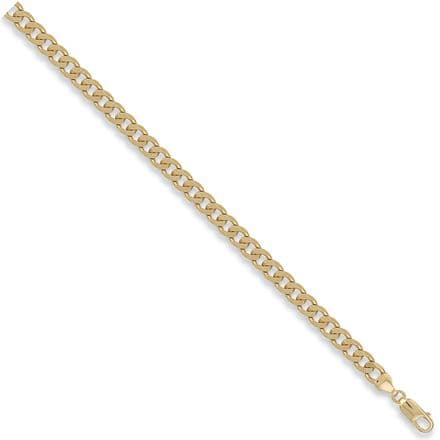 9ct Yellow Gold 20 Inch 6.2mm Solid Curb Chain