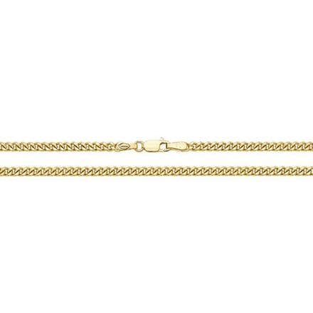 9ct Yellow Gold 22 Inch 2.5mm Close Curb Chain