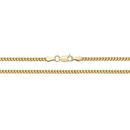 9ct Yellow Gold 22 Inch 2mm Franco Chain