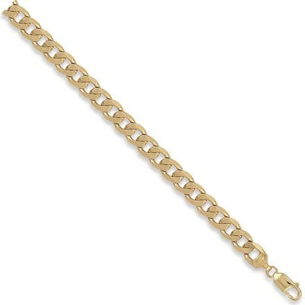 9ct Yellow Gold 22 Inch 9.3mm Solid Curb Chain