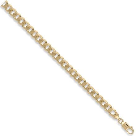 9ct Yellow Gold 8 Inch 7.8mm Solid Curb Bracelet