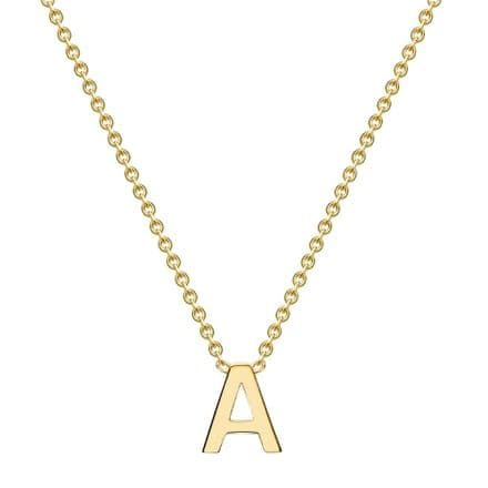 9ct Yellow Gold Adjustable Initial Letter Necklace