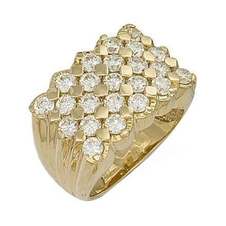 9ct Yellow Gold Cubic Zirconia Keeper Ring