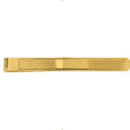 9ct Yellow Gold Gents Patterned Tie Clip