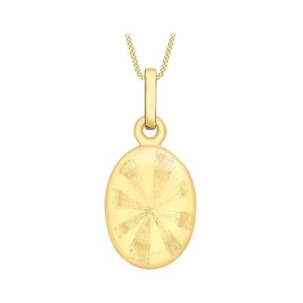 9ct Yellow Gold Patterned Oval Sliding Locket