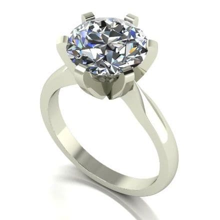 Forever One Moissanite 18ct White Gold 4.00 Carat Solitaire Ring