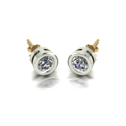 Forever One Moissanite 18ct Yellow Gold 1.00 Carat Stud Earrings