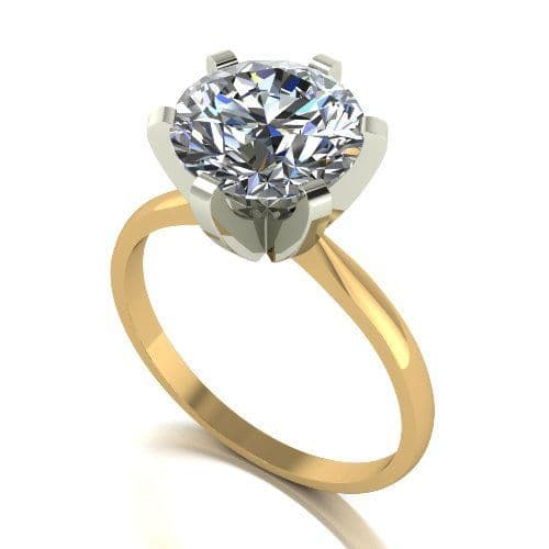 Forever One Moissanite 18ct Yellow Gold 3.00 Carat Solitaire Ring