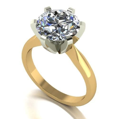 Forever One Moissanite 18ct Yellow Gold 4.00 Carat Solitaire Ring