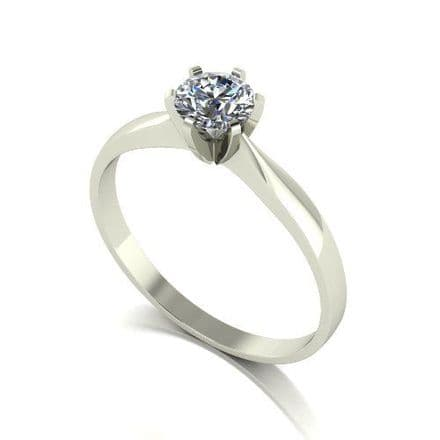 Forever One Moissanite Platinum 0.50 Carat Solitaire Ring