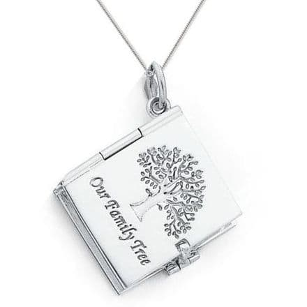 Sterling Silver Six Picture Our Family Tree Locket
