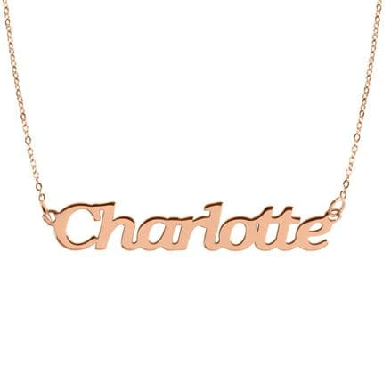 Personalised 9ct Rose Gold Name Necklace