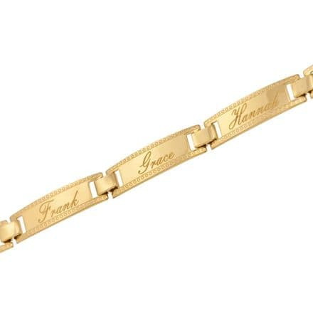 Personalised 9ct Yellow Gold Family Bracelet