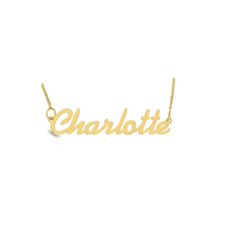 Personalised 9ct Yellow Gold Name Necklace