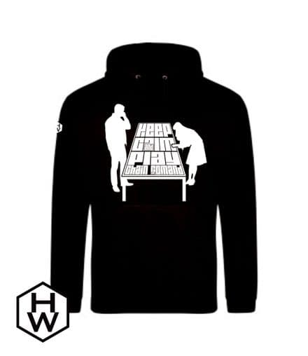 Keep Calm and Play Chain of Comand Unisex Hoody