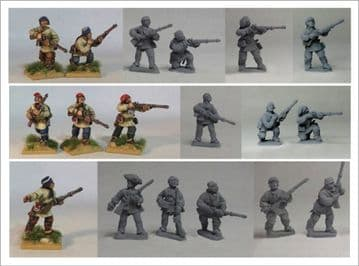 FIW FCFU1 Compagnies Franches de la Marine Skirmish Unit 1 in Canadian/Outpost Clothing