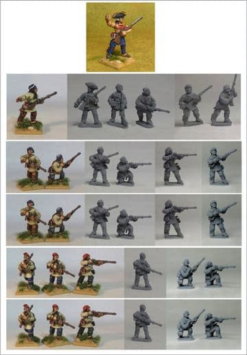FIW FCFU2 Compagnies Franches de la Marine Skirmish Unit 2 in Canadian/Outpost Clothing