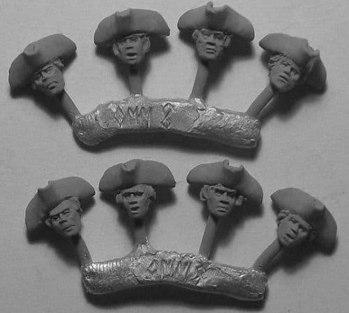 KMM Heads 02 - Plain Tricorns