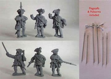 SYW/FIW B08 British Line Infantry Command 2