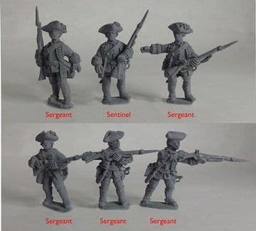 SYW/FIW B09 British Line Inf– Sergeants & Character