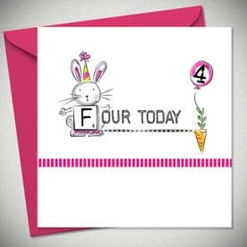 4th Birthday Four Today - Pink