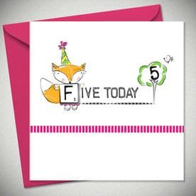 5th Birthday Five Today - Pink