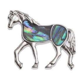 Abalone Shell Horse Brooch
