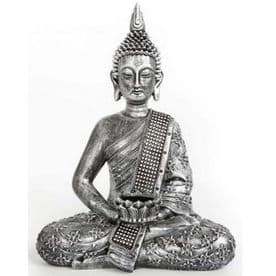 Antique Silver Buddha With Tealight