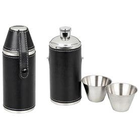 Black Leather Drinks Flask