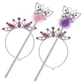 Butterfly Wand and Tiara Set (Any colour)
