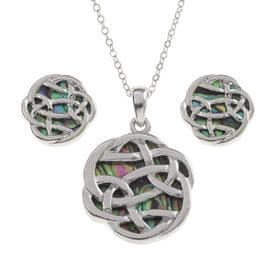 Celtic Infinity Knot Necklace & Earrings Set