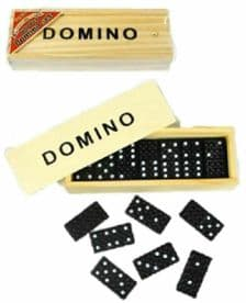 Classic Wooden Dominoes Set Travel Box Game