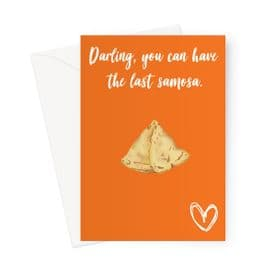 Darling you can have the last samosa (Orange)