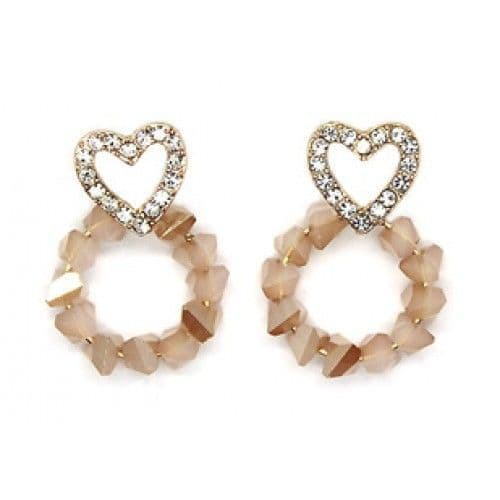 Eclipse of the Heart Crystal Earrings
