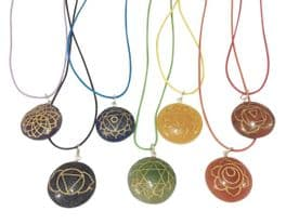 Gemstone Chakra Disc Necklace