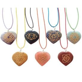 Gemstone Chakra Heart Necklace