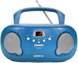 Groov-e Portable CD Player Boombox With Radio - Blue