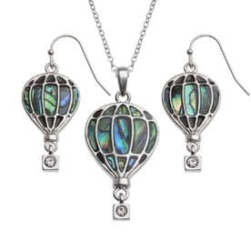 Hot Air Balloon Necklace & Earrings Set