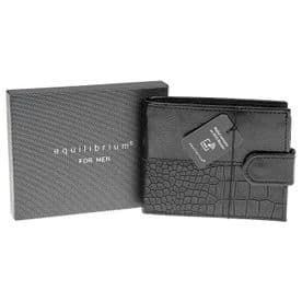 Leather Wallet RFID Protection (Black)