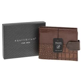 Leather Wallet RFID Protection (Brown)